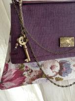 Detail of OOAK key chain accessory