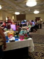 Fuzzy pic of the auction tables!